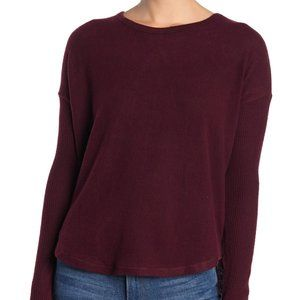 NWT Theo and Spence Ribbed Knit Pullover Wine